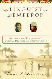 Cover of: The Linguist and the Emperor | Daniel Meyerson