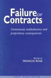 Cover of: Failure of contracts |