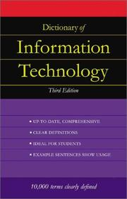 Cover of: Dictionary of information technology