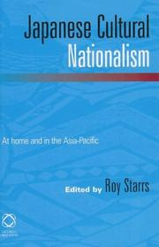 Cover of: Japanese Cultural Nationalism