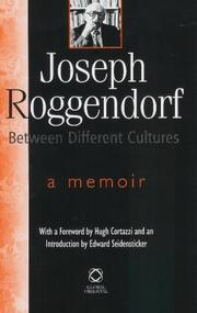 Cover of: Joseph Roggendorf, Between Different Cultures