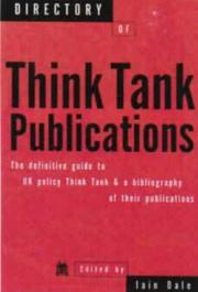 Cover of: Directory of think tank publications
