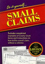 Cover of: Do-it-yourself small claims. |