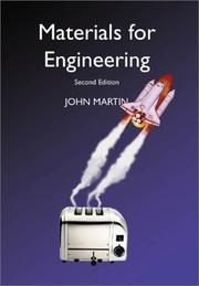 Cover of: Materials for Engineering | J. W. Martin