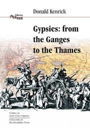 Cover of: Gypsies, from the Ganges to the Thames