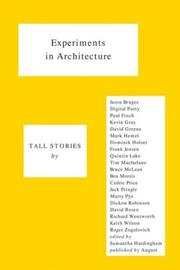 Cover of: Experiments in Architecture