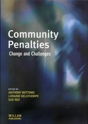 Cover of: Community penalties by