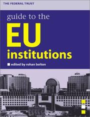 Cover of: Guide to the EU institutions |