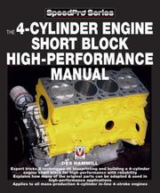 Cover of: How to Blueprint & Build A 4-Cylinder Short Block for High-Performance (Speedpro)