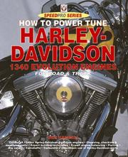 Cover of: How to Power Tune Harley Davidson 1340 Evolution Engines (Speedpro)