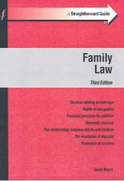 Cover of: A Straightforward Guide to Family Law (Straightforward Guides)