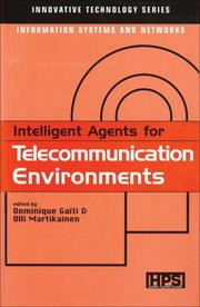 Cover of: Intelligent Agents for Telecommunication Environments (Innovative Technology Series) |