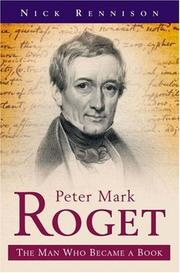 Cover of: Peter Mark Roget