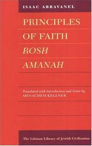 Cover of: Principles of Faith (Rosh Amanah)