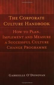 Cover of: The Corporate Culture Handbook | Gabrielle O