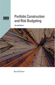 Cover of: Portfolio Construction and Risk Budgeting