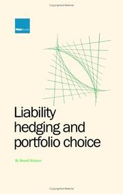 Cover of: Liability Hedging and Portfolio Choice