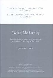 Cover of: Facing Modernity
