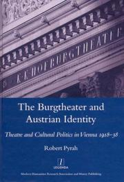 Cover of: Burgtheater and Austrian Identity | Robert Pyrah