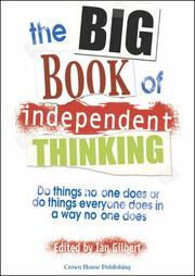 Cover of: Big Book of Independent Thinking | Ian Gilbert