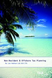 Cover of: Non-Resident and Offshore Tax Planning | Lee Hadnum