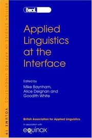 Cover of: Applied linguistics at the interface