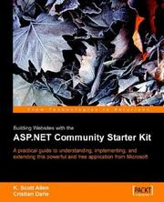 Cover of: Building Websites with the ASP. NET Community Starter Kit