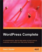 Cover of: WordPress Complete | Hasin, Hayder