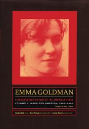 Cover of: Emma Goldman: a Documentary History of the American Years