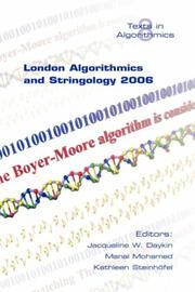 Cover of: London Algorithmics and Stringology 2006 |