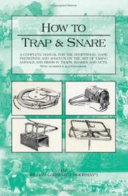 Cover of: HOW TO TRAP AND SNARE