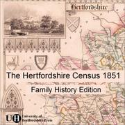 Cover of: The Hertfordshire Census 1851