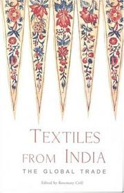 Cover of: Textiles from India | Rosemary Crill