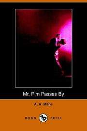 Cover of: Mr. Pim Passes By