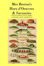 Cover of: Mrs. Beeton's Hors D'oeuvres & Savouries
