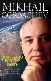 Cover of: Manifesto for the Earth