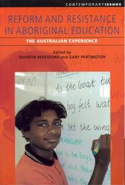 Cover of: Reform and resistance in aboriginal education