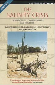 Cover of: The salinity crisis