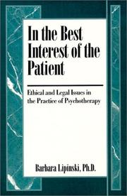 Cover of: In the best interest of the patient