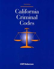 Cover of: California criminal codes