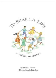 Cover of: To shape a life