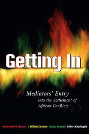 Cover of: Getting In: Mediators' Entry Into The Settlement Of African Conflicts
