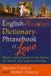 Cover of: English-Russian dictionary-phrasebook of love | Marina Frolova