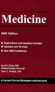 Cover of: Medicine, 2005 Edition | Paul D. Chan