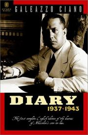 Cover of: Diary, 1937-1943