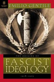 Cover of: The Origins of Fascist Ideology