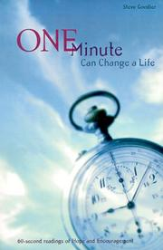 Cover of: One Minute Can Change a Life