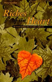 Cover of: Riches of the heart