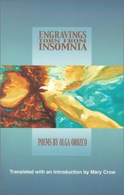 Cover of: Engravings Torn from Insomnia | Olga Orozco