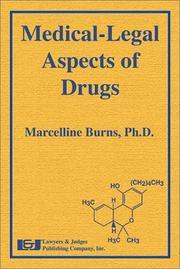 Cover of: Medical-Legal Aspects of Drugs | Marcelline Burns
